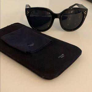 Authentic Celine Audrey Black Polarized Sunglasses